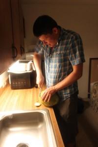 partie Est de Big Island Hawaii, pour ouvrir une noix de coco