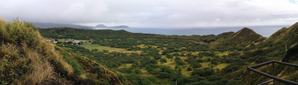 panorama diamond head crater