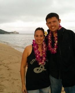 Honolulu Hawaii Waikiki beach collier de fleurs