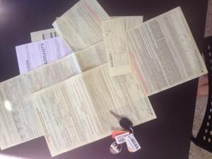 documents achat voiture