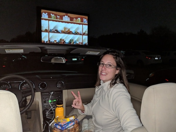 Halloween au Drive In dans notre Mustang
