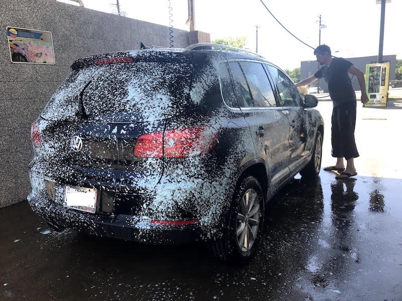 lavage de notre voiture, Tiguan